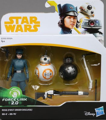 Star Wars FO Disguise Rose /& BB-8 /& BB-9E 2018 Force Link 2.0 Solo Sealed